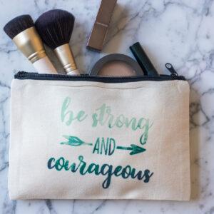 Linen Makeup Bag